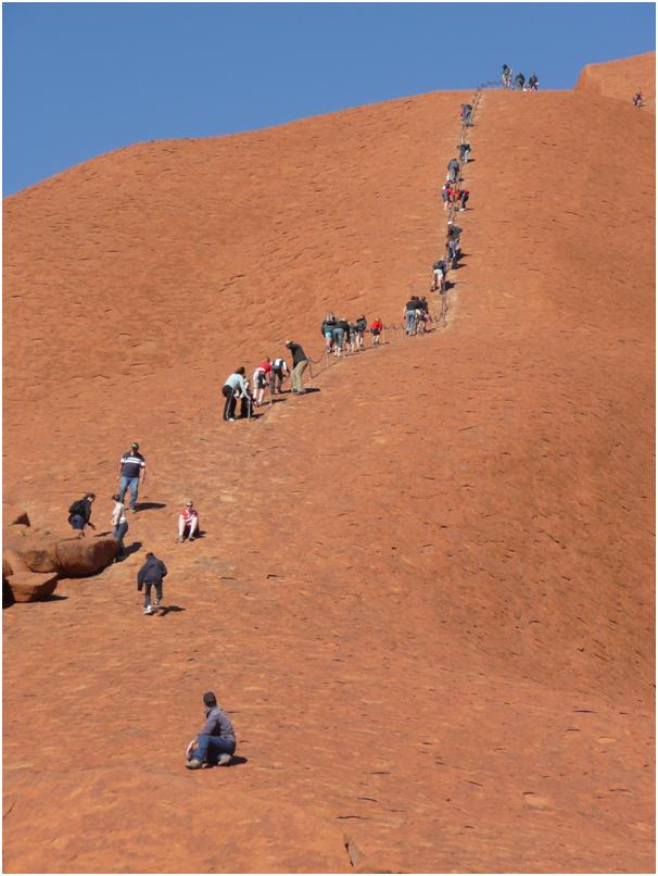 Rock climbing Aires Rock Australia