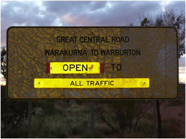 On the Great Central Road Australia