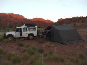 Camping in the Outback on the Gunbarrel